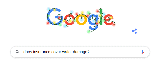 Water Damage Google Search Example