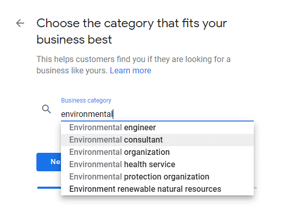GMB Environmental Consultant Category