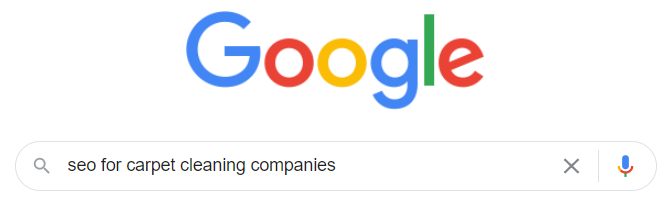 Google SEO for Carpet Cleaning Companies