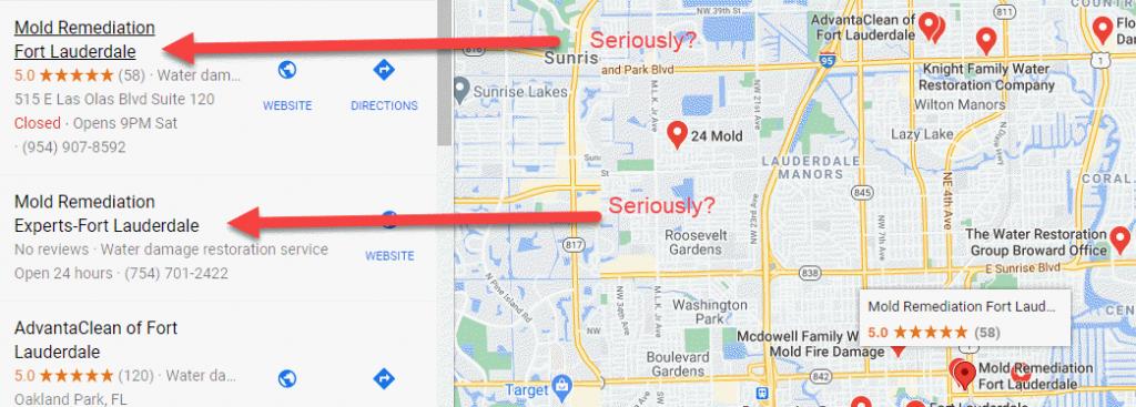 Mold remediation Fort Lauderdale Fake Listing
