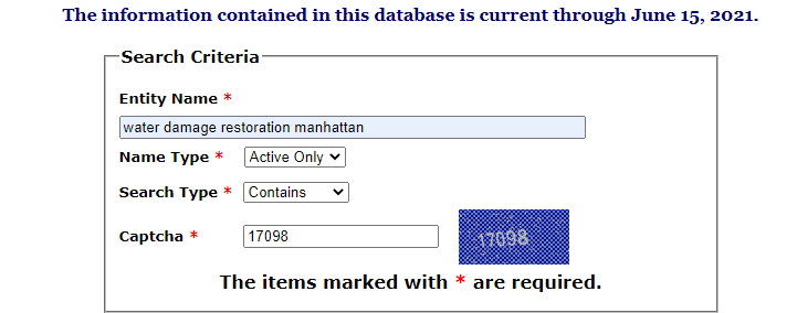 New York Database Search